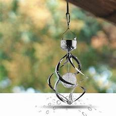 Spiral Solar Lights Color Changing Wind Led Solar Lamp Durable Hanging Spiral