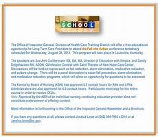 Office Of Inspector General Long Term Care Newsletter