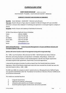 Cv For 16 Year Olds Rory Mcwade Cv Dec14