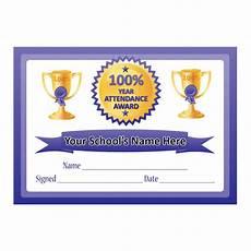 100 Attendance Certificate Template 100 Year Attendance Certificates For Teachers