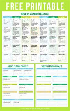 Cleaning Chart Checklist Download Printable Crush Monthly Weekly Cleaning