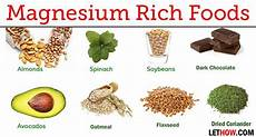 Magnesium In Foods Chart Foods High In Magnesium Rich Source Of Magnesium