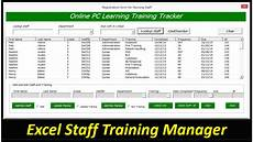 Training Tracker Excel Template Staff Training Manager Database Excel Userform Online