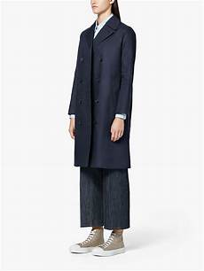 linen trench coats for right mackintosh navy linen system trench coat in blue lyst