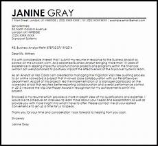 Management Analyst Cover Letter Business Analyst Cover Letter Sample Cover Letter