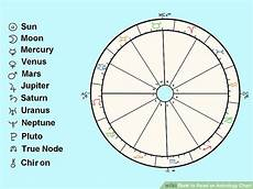 How To Read A Astrological Birth Chart How To Read An Astrology Chart 10 Steps With Pictures