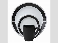 Corelle Livingware Urban Black 16 Piece Vitrelle