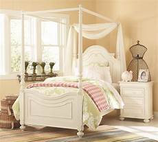 Bed With Posts Traditional Antique White Poster Canopy Bed