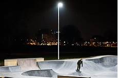 Skateparks With Lights Led Sports Light For Skatepark Karlsruhe Germany Osram
