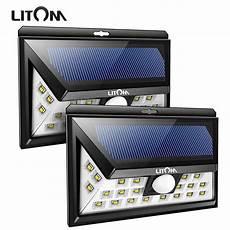 Litom Outdoor Solar Lights 2 Pack Litom 24 Led Solar Light Outdoor Garden Wireless