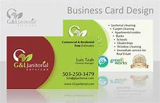 Business Card Cleaning Services G Amp L Janitorial Services Graphic Design Norell Design