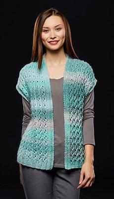 premier 174 lace rib vest knit vest pattern crochet vest