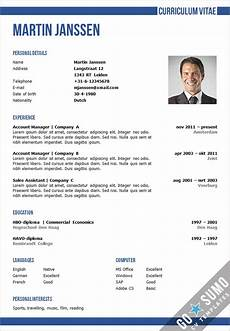 Curriculum Vitae Word Template Cv Template Oxford Go Sumo Cv Template
