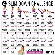 Diet Chart For Girl To Lose Weight The 30 Day Shape Slim Down Weight Loss Challenge Shape