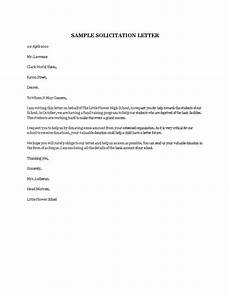 Sample Of Letter Of Solicitation For Donation Sample Solicitation Letter Templates At