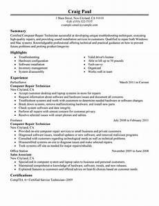 Computer Skills For Resumes Best Computer Repair Technician Resume Example Livecareer