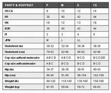 Shapewear Size Chart The Catwalk Firm Control High Waist Long Leg By Body Wrap