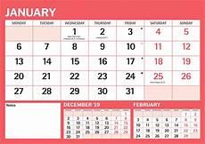 Basic Calendar 2020 Red Amp Black Basic A4 Calendar 2020 Calendar Club Uk