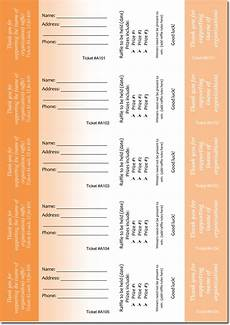 Template For Tickets With Numbers 20 Free Raffle Ticket Templates With Automate Ticket