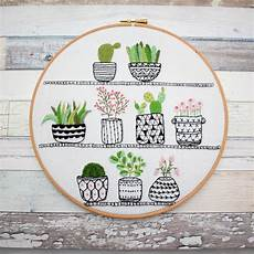 rosie s houseplants embroidery kit bustle sew
