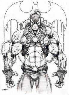 Bane Batman Coloring Pages Bane Artwork Sketch Bane Batman Batman Drawing
