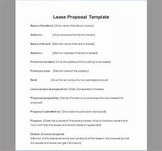 Business Lease Proposal Template Lease Proposal Template Of Lease Proposal Sample Templates