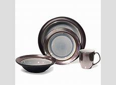 Baum Stellar 16 Piece Dinnerware Set in Grey   Bed Bath