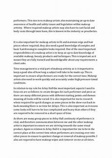 Artist Essay Examples Essay Role Of A Makeup Artist