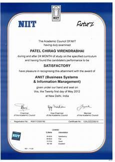 Niit Certificate Format Pdf Niit Certificate