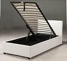 caspian ottoman gas lift up storage bed black white