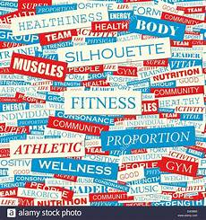 Words Related To Fitness Fitness Seamless Pattern Concept Related Words In Tag