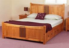 hereford 4 drawer storage bed frame solid wood oak finish