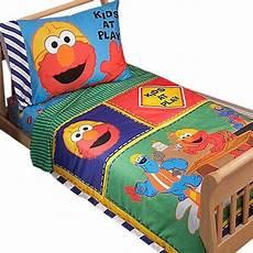 sesame elmo construction 4pc toddler bedding set
