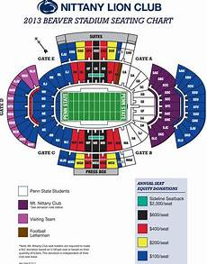 Beaver Stadium Seating Chart View New Donation Football Seating Options Announced Penn