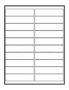 Avery 30 Per Page Labels 10 Template For Address Labels 30 Per Sheet