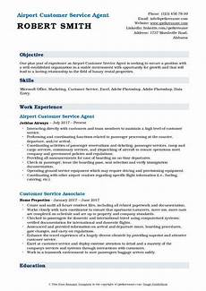 Customer Service Agent Resume Airport Customer Service Agent Resume Samples Qwikresume