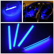 Best Led Footwell Lights 4in1 Blue Cob Led Car Interior Footwell Decorative