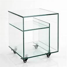 comodino vetro tavolino comodino con portariviste in vetro su ruote albert