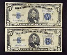 Silver Certificate Dollar Bill Value Chart Paper Money Us Small Size Notes United States Notes