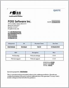Printing Quotation Sample Invoice And Quotation Software For Small Businesses And