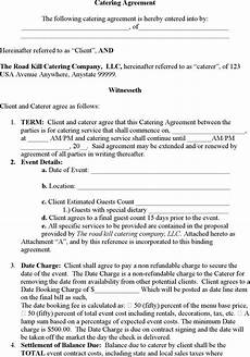 Catering Contracts Samples Catering Contract Template Download Free Amp Premium