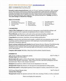 Retail Sales Manager Resume Samples Store Manager Resume 9 Free Pdf Word Documents