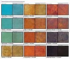 Behr Concrete Stain Color Chart Acid Stain Color Charts