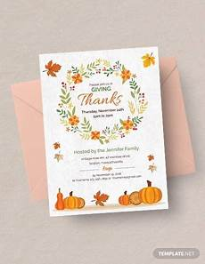 thanksgiving card template 27 sle thanksgiving invitations psd vector eps