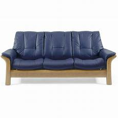 stressless low back 3 seater leather sofa leekes