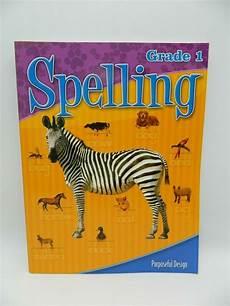 Acsi Purposeful Design Spelling Spelling 1 Student Workbook Acsi Purposeful Design New