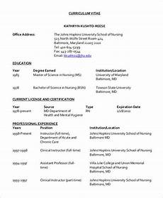 Cv Template For Nurses 10 Nursing Curriculum Vitae Templates Free Word Pdf
