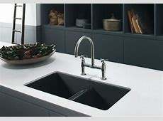 Composite Kitchen Sinks Kblack And White Kitchen Themed With Black Cabinet Also White
