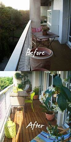 balcony before and after design terrasse dekor kleines