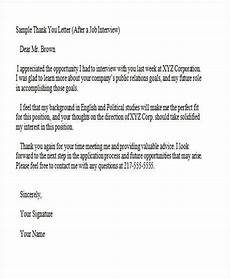 Template Thank You Letter Interview 37 Thank You Letter In Word Templates Free Amp Premium